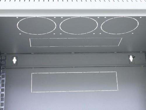 netzwerkschrank 19 zoll 6 18 he wandgeh use mit 395mm tiefe lichtgrau mit glast r 19 zoll tec. Black Bedroom Furniture Sets. Home Design Ideas
