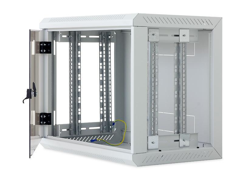 kleiner netzwerkschrank 19 zoll 6 18 he tiefe 495mm das wandgeh use mit abnehmbaren. Black Bedroom Furniture Sets. Home Design Ideas