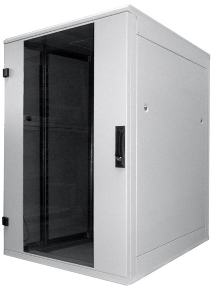 kleiner Serverschrank 22 HE, 800x1100x1080 (BxTxH), lichtgrau. 19 ...