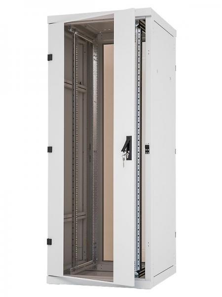 Serverschrank 42HE im Flat-Pack 600x1200x2000, lichtgrau. 19 Zoll ...
