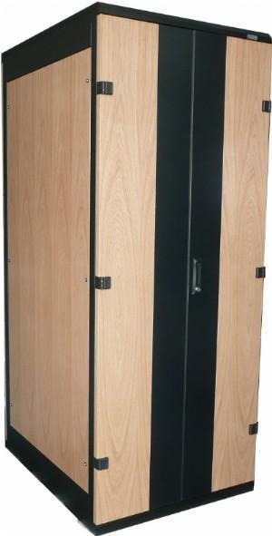 Büro Rack 42 HE, 800x900), gedämmter Serverschrank im Holzdesign. 19 ...