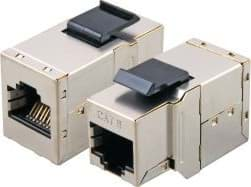 Bild von Modular-Adapter Cat.6 RJ45 STP Snap-In, Metall