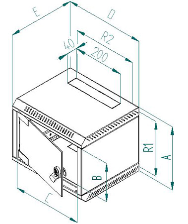 mini rack delta 4 9 he 10 lichtgrau 10 19 zoll tec. Black Bedroom Furniture Sets. Home Design Ideas