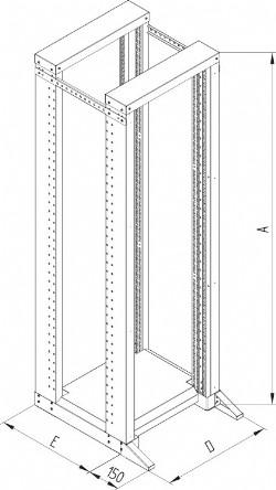 Rack für 19 Zoll Technik wie Laborrahmen - offenes Gestell